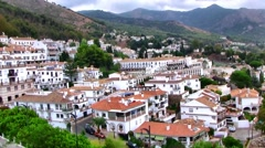 Mijas, Spain - white washed buildings Stock Footage