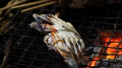 Grilled crab Stock Footage