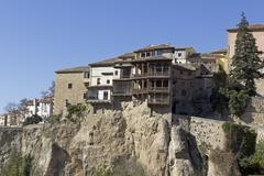 Hanging Houses, Cuenca, Spain Stock Photos