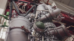 Space rocket engine Stock Footage