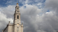 Fatima Sanctuary Portugal. Cathedral timelapse - stock footage