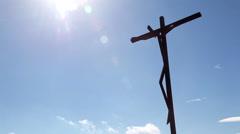 Fatima Sanctuary Portugal. Jesus statue timelapse. - stock footage