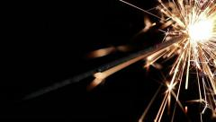 Last minute sparklers on black background, HD 1920х1080 Stock Footage