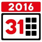 Stock Illustration of 2016 Month Icon