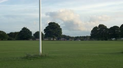 Pole Rugby Football Pitch Field Grass Park Stock Footage