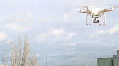 Stock Video Footage of Aerial drone flying in air