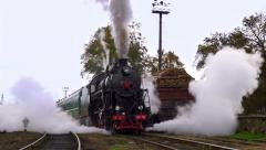 Old Steam Starts to Move - stock footage