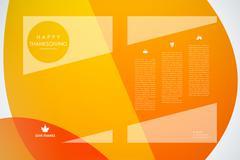 Set of brochure, poster design templates in autumn style - stock illustration