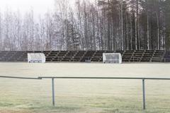 Soccer Pitch Substitution Booths Stock Photos
