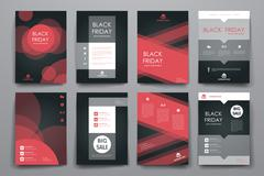 Stock Illustration of Set of brochure, poster design templates in sale style