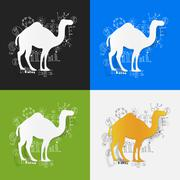 Stock Illustration of Drawing business formulas: camel