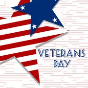 Stars with U.S.A Flag in style vector. Creative Abstract Happy Veterans Day Stock Illustration