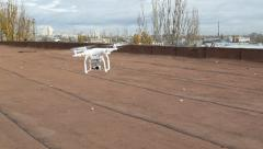 Aerial drone flying in air Stock Footage