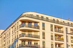 Apartment building facade - stock photo