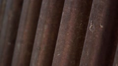 Close up of metal surface Stock Footage