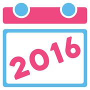 2016 Organizer Icon - stock illustration