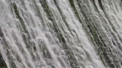 Stock Video Footage of Dam Water Cascade