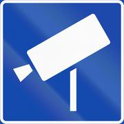 Stock Illustration of Norwegian information road sign - Video surveillance