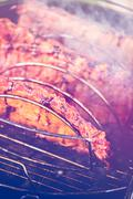 Summer outdoor cooking on barbecue grill Kuvituskuvat