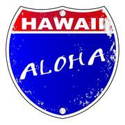 Hawaii Interstate Sign - stock illustration