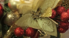 New year and Christmas floral decorations - stock footage
