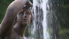 Baroque fountain in Vienna (close-up) Stock Footage