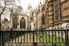 Stock Photo of Majestic Westminster Abbey in London, Great Britain, cultural heritage
