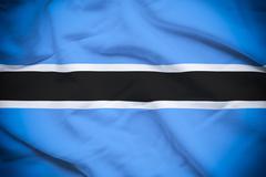 Botswana Flag - stock photo