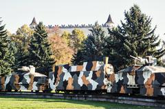 Armored train Hurban in Zvolen, Slovakia, World War II memorial - stock photo