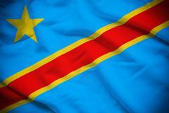 Democratic Republic of the Congo Flag - stock photo
