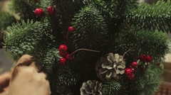 New year and Christmas decorations Stock Footage
