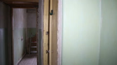 An empty room before recondition 03 Stock Footage
