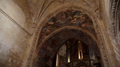Inside Knights of the Templar (Convents of Christ) Castle - stock footage