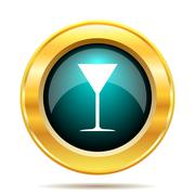 Stock Illustration of Martini glass icon. Internet button on white background..
