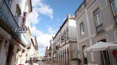 Tomar historical street - stock footage