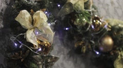 New year and Christmas decorations - stock footage