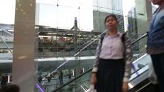 Stock Video Footage of High speed escalator shopping mall ride Terminal twenty one