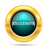 Stock Illustration of Exclusive icon. Internet button on white background..