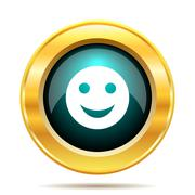 Stock Illustration of Smiley icon. Internet button on white background..
