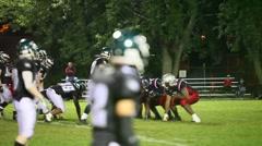 Football quarterback interception Stock Footage