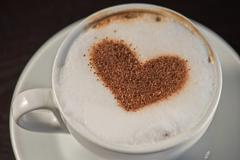 Coffee heart shape Stock Photos