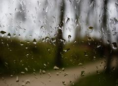 Raindrops on a windowpane Stock Photos