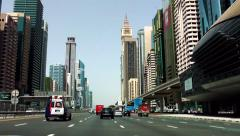 Sheikh Zayed Road Time Lapse 2, Dubai, United Arab Emirates Stock Footage