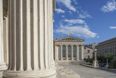 Agora buildings with pillars, Athens, Greece Stock Photos