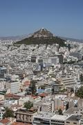 Aerial view of Athens cityscape and mountain, Attica, Greece Kuvituskuvat