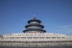 Heaven Temple tower under blue sky, Beijing, China Stock Photos