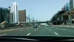Sheikh Zayed Road Time Lapse, Dubai, United Arab Emirates Stock Footage