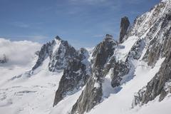 Mont Blanc in snow, Chamonix, France Stock Photos