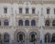 Stock Photo of Ornate building facade, Lisbon, Extremadura, Portugal