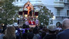 Procession Lord of the Miracles passing, Señor de Los Milagros, DC Stock Footage